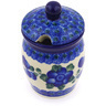 4-inch Stoneware Jar with Lid with Opening - Polmedia Polish Pottery H8593F
