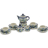 4-inch Stoneware Miniature Tea Set - Polmedia Polish Pottery H6672K