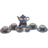 4-inch Stoneware Miniature Tea Set - Polmedia Polish Pottery H6683K
