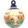 4-inch Stoneware Ornament Christmas Ball - Polmedia Polish Pottery H0138F