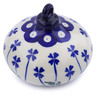 4-inch Stoneware Ornament Christmas Ball - Polmedia Polish Pottery H0825J