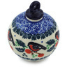 4-inch Stoneware Ornament Christmas Ball - Polmedia Polish Pottery H1980H