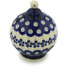 4-inch Stoneware Ornament Christmas Ball - Polmedia Polish Pottery H3193H