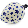 4-inch Stoneware Ornament Christmas Ball - Polmedia Polish Pottery H4076K
