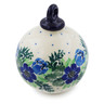 4-inch Stoneware Ornament Christmas Ball - Polmedia Polish Pottery H4085K