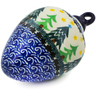 4-inch Stoneware Ornament Christmas Ball - Polmedia Polish Pottery H4308K