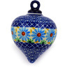 4-inch Stoneware Ornament Christmas Ball - Polmedia Polish Pottery H4781D