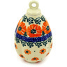 4-inch Stoneware Ornament Christmas Ball - Polmedia Polish Pottery H4782D