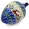 4-inch Stoneware Ornament Christmas Ball - Polmedia Polish Pottery H4926K