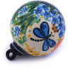 4-inch Stoneware Ornament Christmas Ball - Polmedia Polish Pottery H5208G