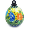 4-inch Stoneware Ornament Christmas Ball - Polmedia Polish Pottery H5566G