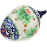 4-inch Stoneware Ornament Christmas Ball - Polmedia Polish Pottery H5705J