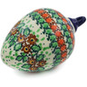 4-inch Stoneware Ornament Christmas Ball - Polmedia Polish Pottery H5713J