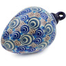 4-inch Stoneware Ornament Christmas Ball - Polmedia Polish Pottery H5716J