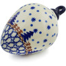 4-inch Stoneware Ornament Christmas Ball - Polmedia Polish Pottery H5866K