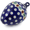 4-inch Stoneware Ornament Christmas Ball - Polmedia Polish Pottery H5868K