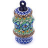 4-inch Stoneware Ornament Christmas Ball - Polmedia Polish Pottery H5957G