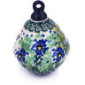 4-inch Stoneware Ornament Christmas Ball - Polmedia Polish Pottery H5959G