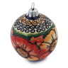 4-inch Stoneware Ornament Christmas Ball - Polmedia Polish Pottery H6053K