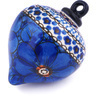 4-inch Stoneware Ornament Christmas Ball - Polmedia Polish Pottery H6486G