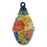 4-inch Stoneware Ornament Christmas Ball - Polmedia Polish Pottery H6502G