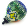 4-inch Stoneware Ornament Christmas Ball - Polmedia Polish Pottery H6759G