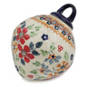 4-inch Stoneware Ornament Christmas Ball - Polmedia Polish Pottery H7867K