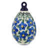 4-inch Stoneware Ornament Christmas Ball - Polmedia Polish Pottery H8317F