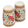 4-inch Stoneware Salt and Pepper Set - Polmedia Polish Pottery H2257K
