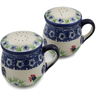4-inch Stoneware Salt and Pepper Set - Polmedia Polish Pottery H3125K