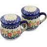4-inch Stoneware Salt and Pepper Set - Polmedia Polish Pottery H3151K