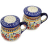 4-inch Stoneware Salt and Pepper Set - Polmedia Polish Pottery H3177K