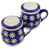 4-inch Stoneware Salt and Pepper Set - Polmedia Polish Pottery H3225K