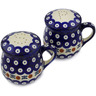 4-inch Stoneware Salt and Pepper Set - Polmedia Polish Pottery H3253K
