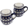 4-inch Stoneware Salt and Pepper Set - Polmedia Polish Pottery H3309K