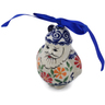 4-inch Stoneware Santa Clause Ornament - Polmedia Polish Pottery H6582K