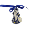 4-inch Stoneware Santa Clause Ornament - Polmedia Polish Pottery H6675K