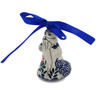 4-inch Stoneware Santa Clause Ornament - Polmedia Polish Pottery H6726K