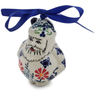 4-inch Stoneware Santa Clause Ornament - Polmedia Polish Pottery H6836K