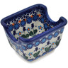 4-inch Stoneware Sugar Packet Holder - Polmedia Polish Pottery H0582L