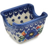 4-inch Stoneware Sugar Packet Holder - Polmedia Polish Pottery H0587L