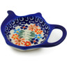 4-inch Stoneware Tea Bag or Lemon Plate - Polmedia Polish Pottery H5922K
