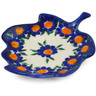 4-inch Stoneware Tea Bag or Lemon Plate - Polmedia Polish Pottery H6455K