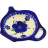4-inch Stoneware Tea Bag or Lemon Plate - Polmedia Polish Pottery H9187F