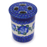 4-inch Stoneware Toothbrush Holder - Polmedia Polish Pottery H6353A