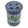 4-inch Stoneware Toothbrush Holder - Polmedia Polish Pottery H9699B