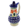 4 oz Stoneware Pitcher with Lid - Polmedia Polish Pottery H0554K