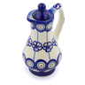 4 oz Stoneware Pitcher with Lid - Polmedia Polish Pottery H2929J
