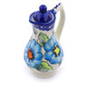 4 oz Stoneware Pitcher with Lid - Polmedia Polish Pottery H2930J