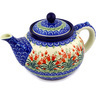 40 oz Stoneware Tea or Coffee Pot - Polmedia Polish Pottery H1931D